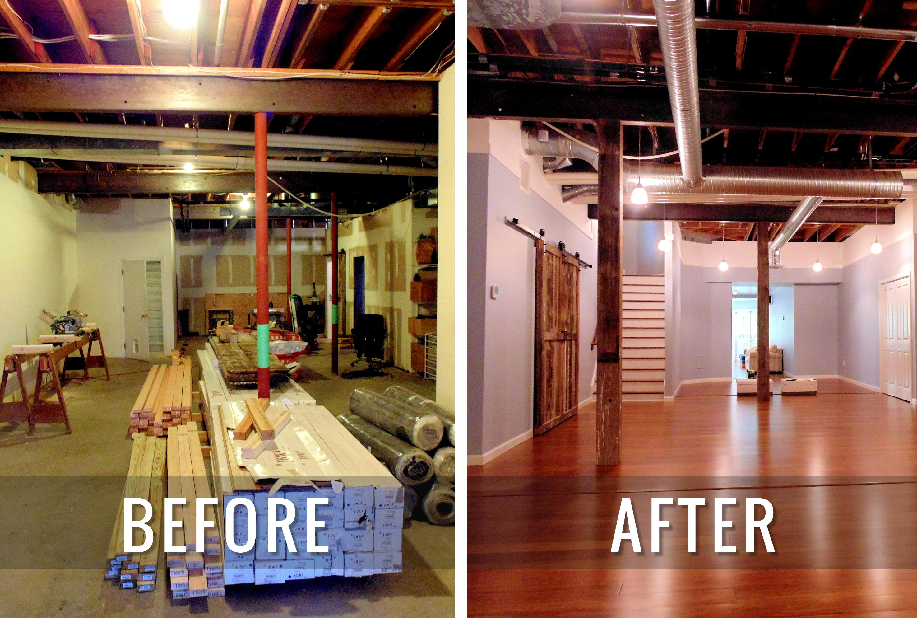 J & M Contractors — Before and After Basement Remodel 2