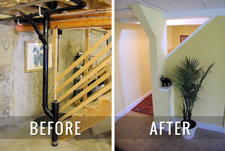 J & M Contractors — Before and After Basement Remodel 3